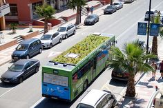 Tumblr - A garden on top of a moving bus!