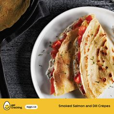 Smoked Salmon and Dill Crepes | Eggs.ca | #GetCracking #Eggs #Crepes