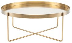 One of 12 Coffee Tables for Your Living Room Photos | Architectural Digest - VOX COFFEE TABLE IN GOLD BY DWELL STUDIOS (=)