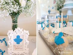 cakepops for this angel themed baptism