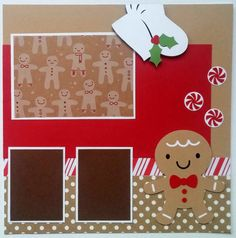 63 New Ideas For Holiday Cookies For Kids Mom Scrapbook Recipe Book, Baby Scrapbook, Scrapbook Cards, Scrapbook Frames, Christmas Scrapbook Layouts, Scrapbook Page Layouts, Christmas Layout, Scrapbook Templates, Creative Memories