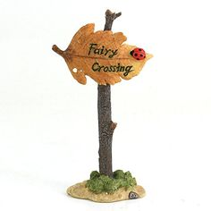 """Top Collection Miniature Fairy Garden and Terrarium """"Fairy Crossing"""" Sign Top Collection http://www.amazon.com/dp/B00NZJTOUU/ref=cm_sw_r_pi_dp_glX3vb064DS1H"""