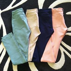 Skinny Jeans. I'll have the pink ones packaged to my house please!