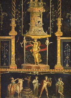 Pompeii - Casa dei Vettii - Triclinium - ポンペイの壁画の様式 - Wikipedia
