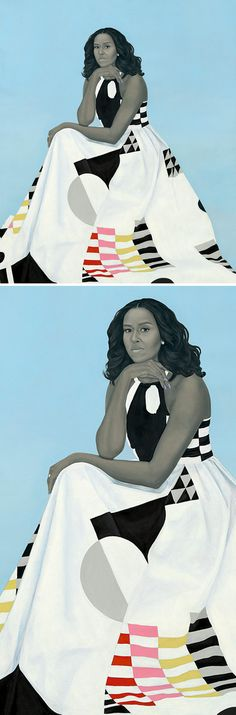 Official portrait of FLOTUS Michelle Obama by #AmySherald