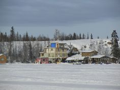 House Boats on Great Slave Lake...Near Yellowknife, NT