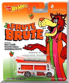 Hot Wheels Pop Culture General Mills – Frute Brute Smokin' Grille by Hot Wheels Hot Wheels Display, General Mills, Old School Toys, Orange Interior, People In Need, Hot Wheels Cars, Diecast Models, Classic Toys, Cool Items
