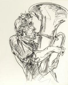 Ron playing tuba. Gregory Muenzen