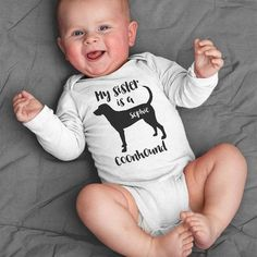 My Sister is an American Cocker Spaniel Baby Bodysuit, Infant Dog Baby Girl Gift, Baby Boy Clothes, Funny Personalized Baby Shower Gift Baby Boys, Baby Girl Gifts, Baby Dachshund, Dog Baby, Corgi Dog, Baby Boy Romper, Baby Bodysuit, Funny Baby Clothes, Personalized Baby