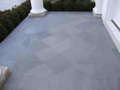 Typical Flagstone Paving Patterns by Robinson Flagstone supplier of PA Flagstone / PA Bluestone since Flagstone Paving, Garden Paving, Front Path, Paving Pattern, Patio Makeover, Stone Flooring, Diamond Design, Exterior Colors, Diamond Pattern