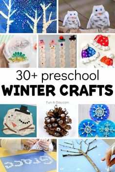 An amazing collection of winter crafts for preschool! Great for a winter theme or anytime during the chilly winter months. There are snowflake crafts, arctic animal crafts, winter tree crafts, and so much more! Early Learning Activities, Winter Activities, Snowman Crafts, Tree Crafts, Petite Section, Winter Trees, Winter Fun, Preschool Themes, Preschool Activities