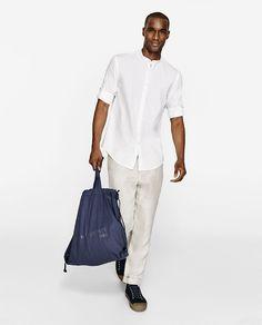 Image 1 of MANDARIN COLLAR SHIRT from Zara