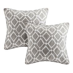 Shop for Madison Park Ella Printed Grey 20-inch Pillows (Set of 2). Free Shipping on orders over $45 at Overstock.com - Your Online…