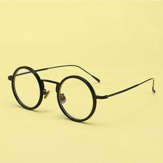 e20b37a3f3530 Moda Vidros Ópticos Quadro Mulheres Homens Retro óculos de Miopia Quadros  Feminino Rodada Ciclo Olho Óculos de Armação Oculos de grau YJ845 em  Armações de ...