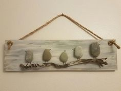 Stone Birds – All For Garden Pebble Stone, Pebble Art, Stone Art, Sea Glass Crafts, Sea Glass Art, Bible School Crafts, Pebble Pictures, Rock And Pebbles, Rock Decor