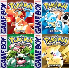 historyofvideogames: Which is your option? ? #Pokemon #pikachu #gameboy #game #games #nintendo #old #oldgen #child #red #blue #green #yellow  #fire #water #leaf #electro #instagood #instadaily #insta #picoftheday #photooftheday #followme #follow #likeforlike #like4like #likeforfollow #followforfollow #follow4follow #gameboy #microobbit