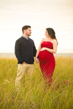 Maternity Gown Beach Photo Shoot