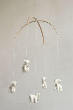 nursery decor  baby mobile  Lamb mobile  Sheep mobile by Patricija