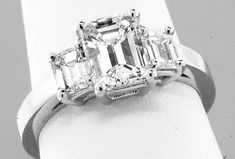Your place to buy and sell all things handmade Gia Certified Diamonds, Thing 1, Platinum Engagement Rings, Emerald Cut Diamonds, Jewelry Stores, Fine Jewelry, Wedding Rings, Stone, Stuff To Buy