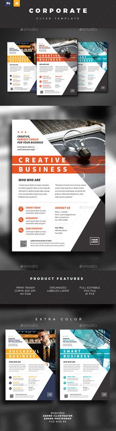 Business Flyer Template - Corporate Business Cards