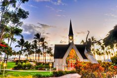 """Seaside Chapel in Grand Wailea, Maui, Hawaii aka """"The most romantic chapel in Hawaii.""""  An ideal location for a destination wedding or to simply say, """"I Do,"""" all over again."""