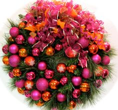 What a stunning wreath…full of bright and fun colors!