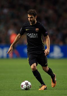 Cesc Fabregas of Barcelona in action during the UEFA Champions League group H match between Celtic and FC Barcelona at the Celtic Park Stadium on October 1, 2013 in Glasgow, Scotland.