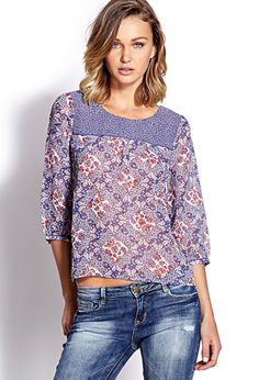 Retro Paisley Blouse | FOREVER 21 - 2000126503