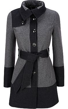 I already have MANY jackets... but one more couldn't hurt?  Black Rivet Banded Bottom Wool Jacket - Wilsons Leather
