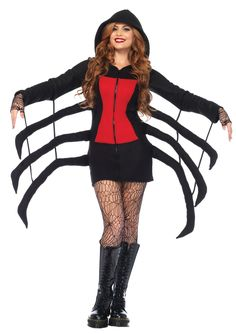 Spider Black Widow Cozy Adult Costume Large  sc 1 st  Pinterest & Easy Kidsu0027 Halloween Costume: Spider Legs | Pinterest | Spider ...