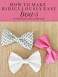 Here's the thing. There are about a million bow tutorials on the Internet right now. I know this because I am a frequent Pinterest -er...