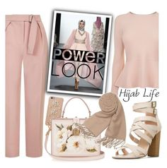 """Hijab Is My Power Look"" by fattie-zara ❤ liked on Polyvore featuring BOSS Hugo Boss, Topshop, MICHAEL Michael Kors, Dolce&Gabbana, Forzieri and powerlook"