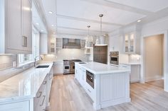 Elmwood Road - Bluewater Home Builders Ivory Kitchen, Kitchen Dining, Exterior Design, Interior And Exterior, Built Ins, Home Builders, Beautiful Homes, Islands, Building A House