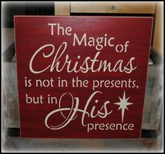 The magic of Christmas in not in the by simplycutecreations, $24.95