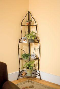 Branch Corner Plant Stand   Buy from Gardener's Supply