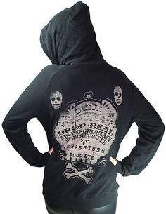 Burnout Hoodie Ouija TooFast Clothing Punk Rock Gothic Hoodies Jackets
