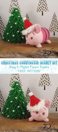 Piglet Tsum Tsum Amigurumi with Free Pattern