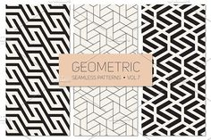 Geometric Seamless Patterns Set 7 Graphics The archive contains:- Vector EPS format with 3 seamless patterns.- Vector AI format with 3 seaml by Curly_Pat