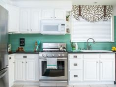 If your kitchen backsplash is ready for a facelift but your budget isn't, consider beadboard paneling as an affordable option. DIY Network shows you how it can be installed right over your existing tile.