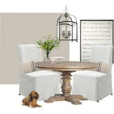 dining room by homebyally on Polyvore featuring interior, interiors, interior design, home, home decor, interior decorating, Hudson Valley Lighting, Kate Spade, Sugarboo Designs and LSA International
