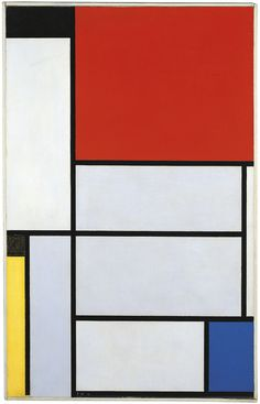 Piet Mondrian, Composition with Large Blue Plane, Red, Black, Yellow, and Gray(1921) on ArtStack #piet-mondrian #art