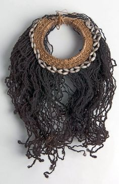 Papua | Bracelet from upper arm, decorated with Job's tears and human hair | Asmat.  Sirets river region | Prior to 1954