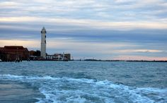 Faro Murano abends, Venedig - Foto: S. Hopp
