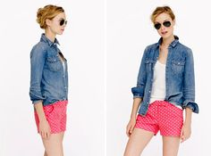 Polka Dot Linen Short | 20 Chic Shorts