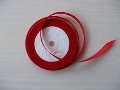 poppy red satin ribbon  1cm 22 metres £1.50