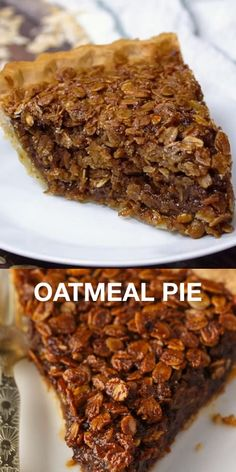 This Oatmeal Pie recipe is an old fashioned dessert just like Grandma used to make! It reminds me a little of a pecan pie. Oatmeal Pie, Best Oatmeal, Chocolate Chip Oatmeal, Brownie Recipes, Pie Recipes, Baking Recipes, Dessert Recipes, Flourless Desserts, Vegetarian Recipes Videos