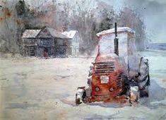Bildresultat för traktor akvarell