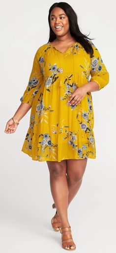 Plus Size Boho Swing Dress