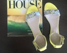 Leather sandal Lola - Yellow