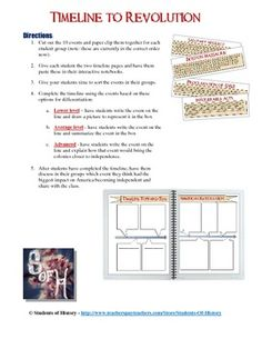 Worksheets American Revolution Timeline Worksheet pinterest the worlds catalog of ideas american revolution interactive timeline project this fantastic cooperative learning activity has your students sorting 10 key events that led up t